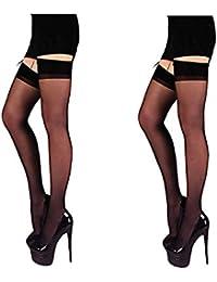 f998699d343 INFISPACE® Women s Full Coverage Thigh-Highs Long Nylon Skin Stockings Socks  (Pack of