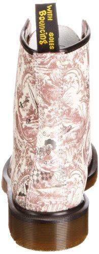 Dr Martens 1460 Vandalized Jouy, Bottes Femme Rouge (cerise / Blanc)