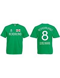 World-of-Shirt Herren T-Shirt Nordirland EM 2016 Trikot Fanshirt