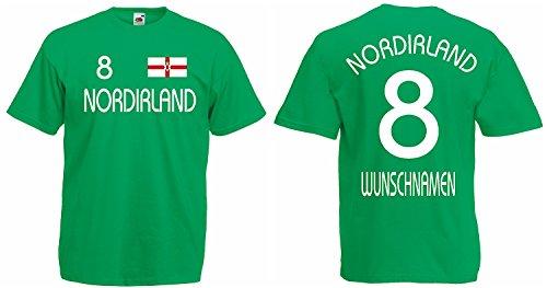 Nordirland Trikot mit Wunschname und Wunschnummer EM 2016 Grün