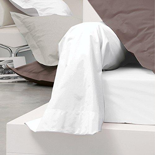 Taie de traversin coton uni 230X43 - Blanc