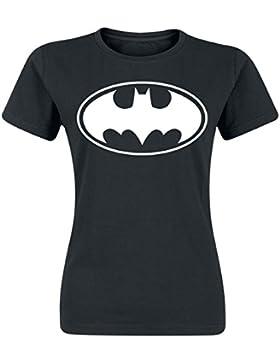 Batman Logo Camiseta Mujer Negro