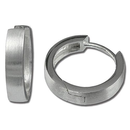 SilberDream Ohrringe 15mm für Damen 925 Silber Creolen rhodiniert SDO348M