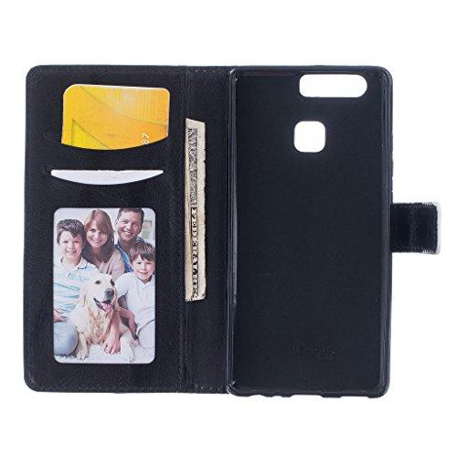Per iPhone 6Plus/6s Plus case [con schermo temperato], Qimmortal multifunzionale portafoglio in pelle PU a libro con chiusura magnetica Flip con carta carta durevole TPU bumper rubber inside Perfect  Girl