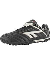 Nuevo Hi-Tec Liga botas de fútbol Astro entrenadores Mens fútbol zapatos tamaño 7–12, negro/rojo/blanco, 10