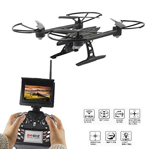 Drone, 5.8 G FPV avec caméra de Surveillance 2.0 MP HD Drone à Distance RC,/3D Flip/Mode sans tête/Un Bouton de Retour/Hauteur Hold
