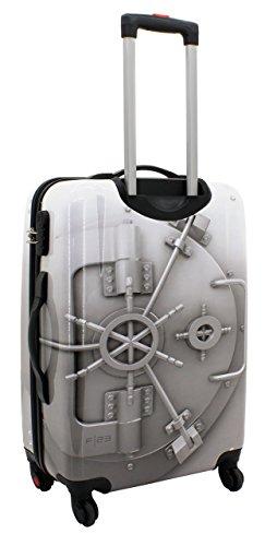 F|23, Hartschalen Trolley, Höhe: 50 cm, Mit Zahlenschloss, 4-Rollen-System, Tresor, Silber, 77046-95 silber