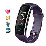 Kuyang Pulsera de Actividad Inteligente Relojes Deportes con Pulsómetro Pulseras Actividad Deportiva Impermeable IP68 Pantalla a Color Monitor Cardiaco Reloj para Mujer Hombre para iOS y Android