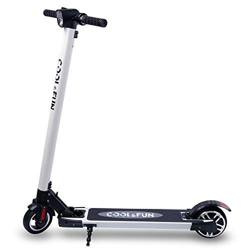 Cool&Fun HB2 e Scooter Elektroscooter Elektroroller Cityroller 250W 120kg 6600mAh Tragetasche mit LG Akku weiß
