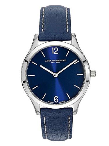 Abeler & Söhne fabricado en Alemania–Reloj de pulsera para mujer con cristal de zafiro y correa de piel as3016
