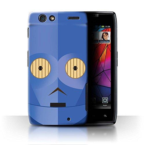 Stuff4® Hülle/Case für Motorola RAZR XT910 / Blaue C-Serie Muster/Protokoll Droide Kollektion -