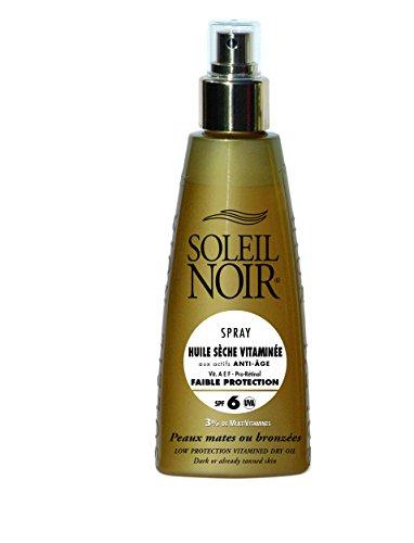 SOLEIL NOIR 52 Spray Huile Sèche Vitaminée 6 Protection Faible
