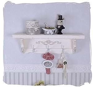 wandregal vintage garderobe weiss wandboard h ngeregal. Black Bedroom Furniture Sets. Home Design Ideas