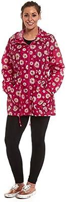 Señoras Luz impermeable chubasquero Mac Parka chaqueta