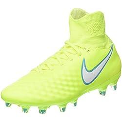 Nike Magista Orden II FG, Botas de fútbol para Mujer, Amarillo White-Barely Volt-Chlorine Blue, 40 EU