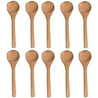 Da. WA cucharas cucharón de madera para niños 10pcs/lot, madera, Madera, L:Round