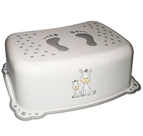 Unbekannt Anti RUTSCH - Trittschemel / Tritthocker / Kindersitz -  Zebra - weiß  - Kinderschemel & Kindertritt - groß - ideal als Erhöhung & Sitz - Kinderhocker - auc.. (Zebra Kindersitz)