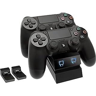 Venom Twin Docking Station, lädt zwei Dualshock 4 Controller gleichzeitig ohne Kabel, mit LED Anzeige - Playstation 4