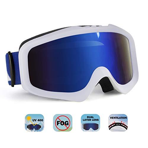ae8107b37f Unigear Gafas de Esquí OTG Esquiar Protección UV 400 Snowboard Revo Lentes  Doble Anti-Niebla
