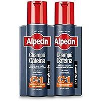 Alpecin Champú Cafeína C1, 2 x 250 ml – champú anticaída para hombres