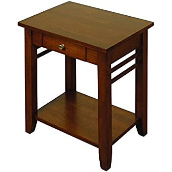 Solid Hardwood End Table / Lamp Table 1 Drawer   Living Room Furniture Part 94