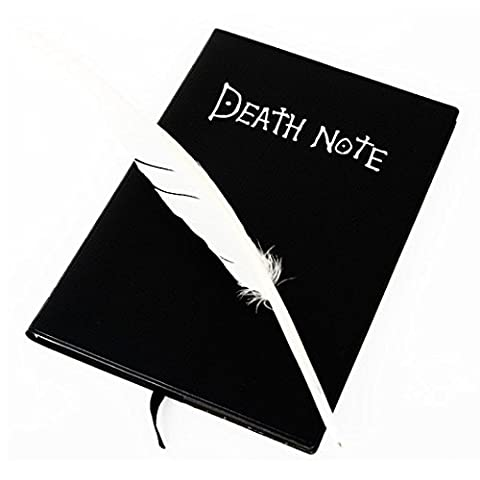 Agenda, Kolylong® Death Note Notebook & Feather Pen Carnet Noir