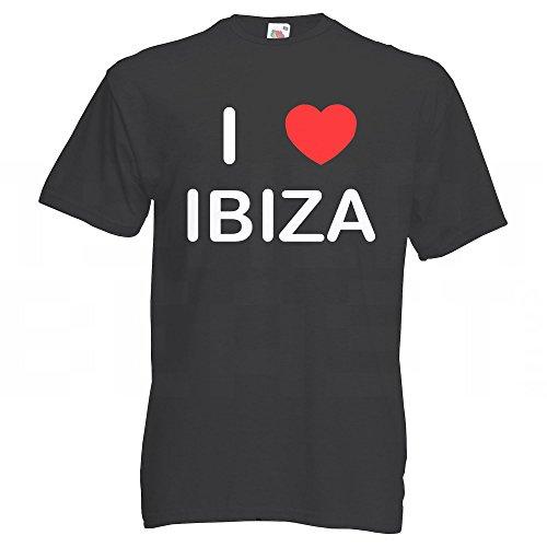 I Love Ibiza - T Shirt Schwarz