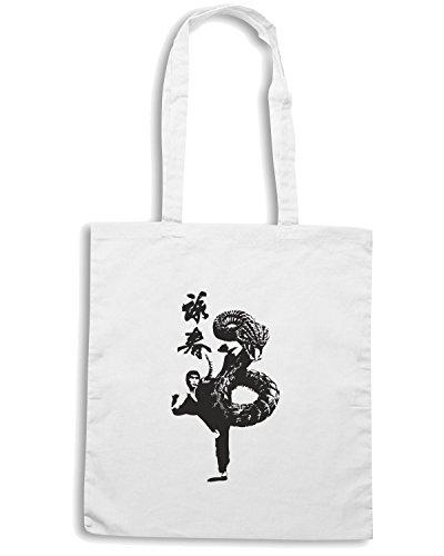 T-Shirtshock - Borsa Shopping T0400 kung fu dargo arti marziali Bianco