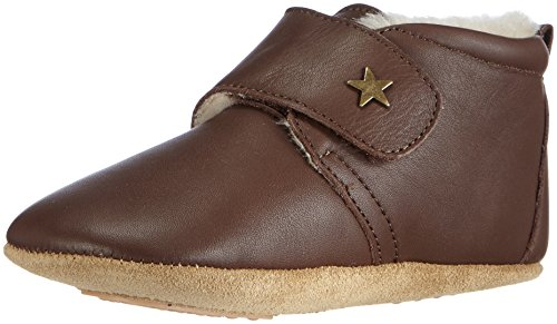 Bisgaard Unisex Baby Wool Star Pantoffeln, Braun (60 Brown), 25 EU