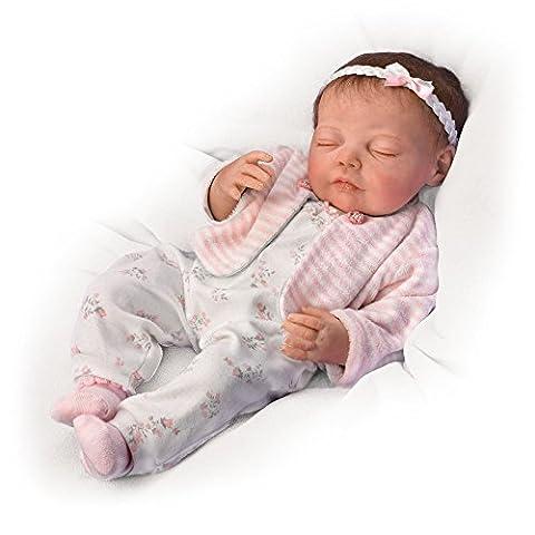 Träume süß, kleine Claudia - Interaktive Babypuppe der Künstlerin Jannie DeLange