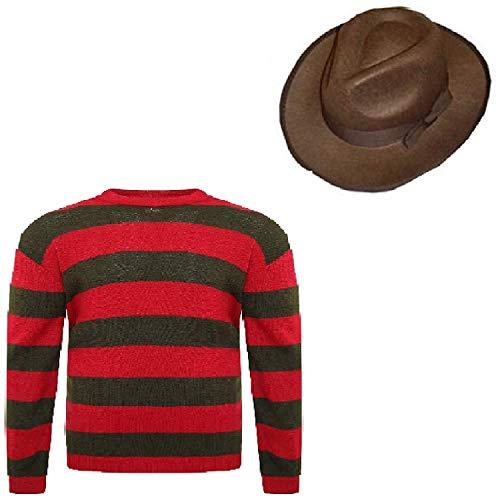 Prettymake Unisex Kids Boys Halloween Fancy Dress Hat Jumper Set (Age 11-12, Jumper, Hat)