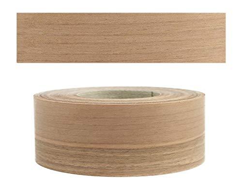 Mprofi MT® (5m Rotolo) Bordi in vero legno per i bordi dei mobili con colla Noce europ. 60 mm