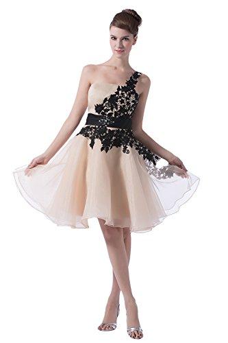 Bridal_Mall -  Vestito  - linea ad a - Senza maniche  - Donna Champagne