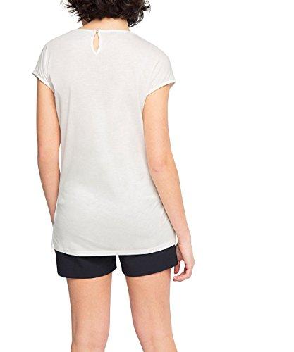 Esprit 036eo1k016 - Floating Soft Quality - T-shirt - Femme Blanc (OFF WHITE 110)