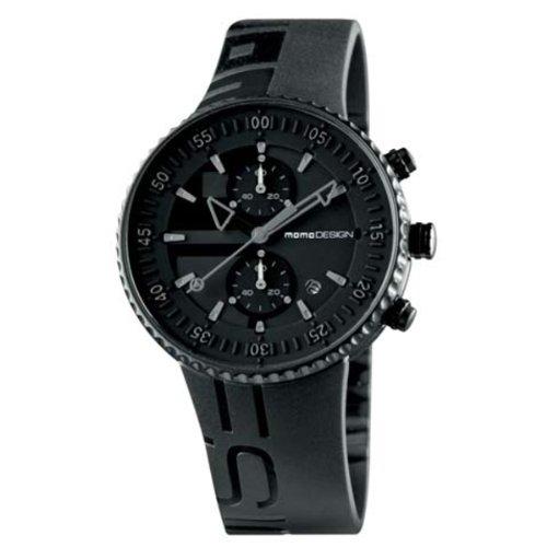 Momo Design Jet Black Quartz Uhr, Chronograph, 43mm.