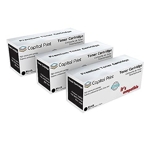 3X Non-OEM Q1338A/38A cartouche noir pour HP Laserjet 4200/4300/4250/4350/4345