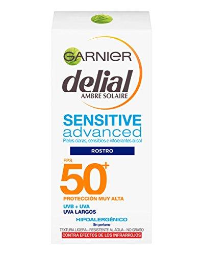 Garnier - Crema de Rostro y Escote Delial Sensitive Advance FPS50+ 50ml