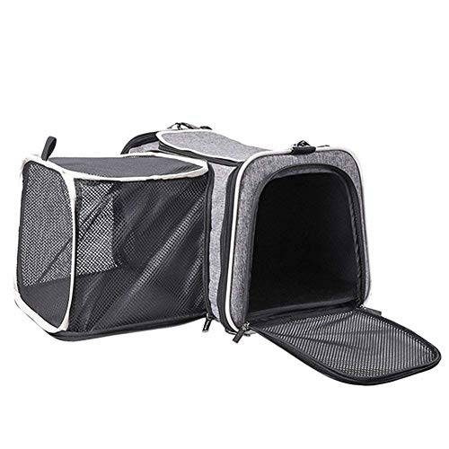 HBHJG Pet Carrier, Katze Rucksack Outing Bag Katze aus Tragetasche atmungsaktiv Auto großen Hund Rucksack Katze Tasche (grau) -