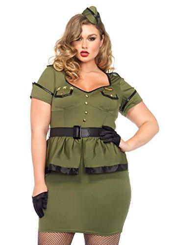 Leg Avenue 85427X - Kommandant Cutie Damen kostüm, Größe 1X-2X ( EUR (Kostüm Armee Frau)