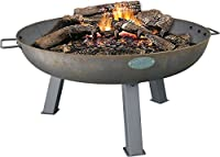 Harbour Housewares Cast Iron Garden Fire Pit Burner With Handles - 750mm Diameter
