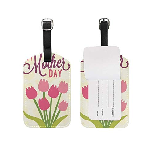 Luggage Tag Tulip Flower Travel Suitcase ID Labels 1 Pack Digitale Tulip