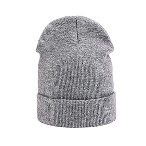 Imagen de aegkh gorros depuntomujeres gorro de invierno gorro de algodón cálido casual lana sólida conejo beanie hat para hombres cashmere, f