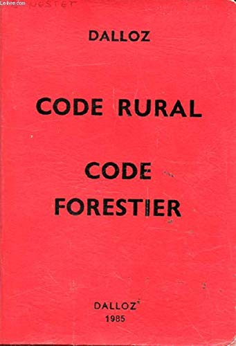 Code rural Code forestier (Petits codes Dalloz)