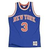 Mitchell & Ness NBA New York Knicks John Starks 3 1991-92 Retro Jersey Swingman Oficial Away Hardwood Classics, Herren T-Shirt, Medium