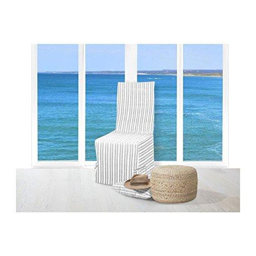Soleil dOcre 527230 Alix Housse de Coussin Polyester Gris 40 x 40 cm