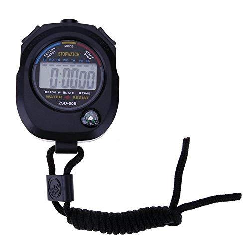 YOUZHA Cronómetro digital LCD Cronómetro deportivo