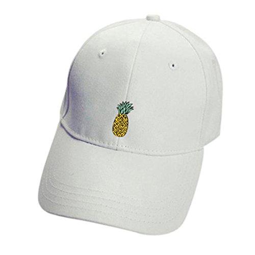 OYSOHE Damen & Herren Baseball Caps, Neueste Unisex Ananas Hüte Hip Hop Einstellbare Schirmmütze Casual Baseballmütze (Einheitsgröße, White)
