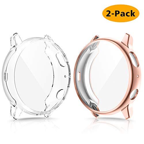CAVN Protection Écran pour Samsung Galaxy Watch Active 2 40MM, 2 Pièces Housse de Protection en TPU Souple Protecteur Case Cover pour Galaxy Active 2