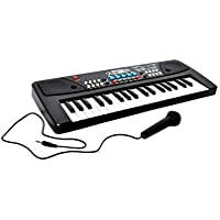 VIZN™ 37 Key Piano Keyboard Toy with Mic, DC Power Option Recording Big Fun 37 Keys Piano Keyboard Piano (with 2 pin top…