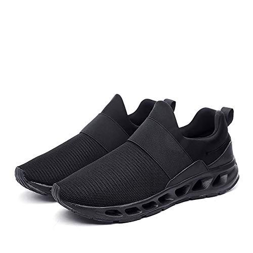 Nuove Scarpe da Uomo 2018, Mesh Comfort Traspirante Sneakers, Scarpe Casual Autunnali a Molla scavate, Scarpe da Corsa da Trekking da Viaggio (Colore : B, Dimensione : 42)